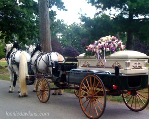 Horse Drawn carriage carrying body of Mrs. Gertie Brooks
