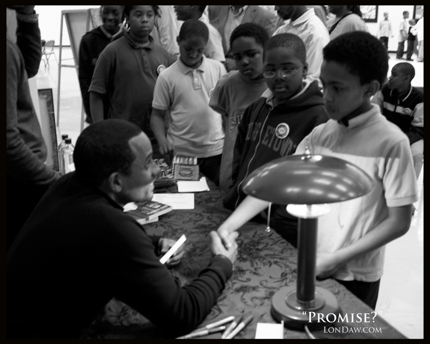 HIll Harper with mentees from Life Pieces to Masterpieces organization in DC