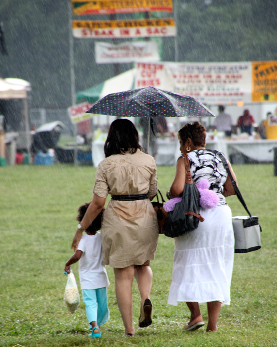 leaving rainy Baltimore festival after downpour