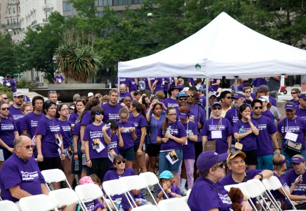 A sea of purple at the Purple Stride 5k Walk 2011