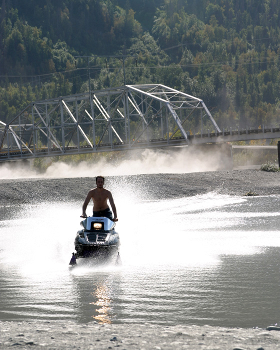 water skiing in alaska