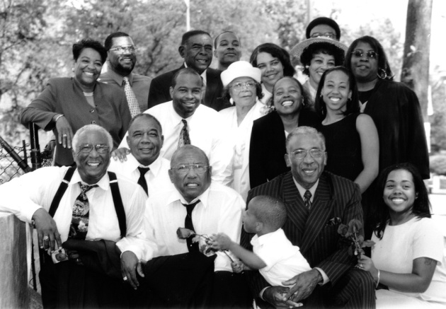 family portrait after funeral  in Washington DC