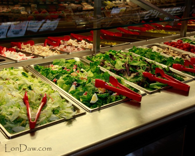 Vegetables on salad bar