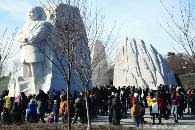 Wide view of Martin Luther King Jr. Memorial