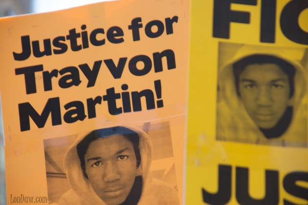 Protest sign - Trayvon Martin rally in DC