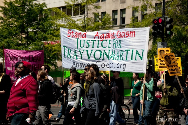 Trayvon Martin Stand against justice sign