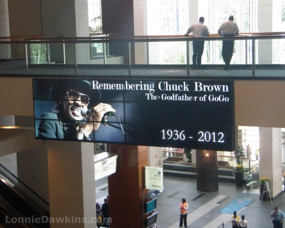 Chuck Brown sign at DC convention center