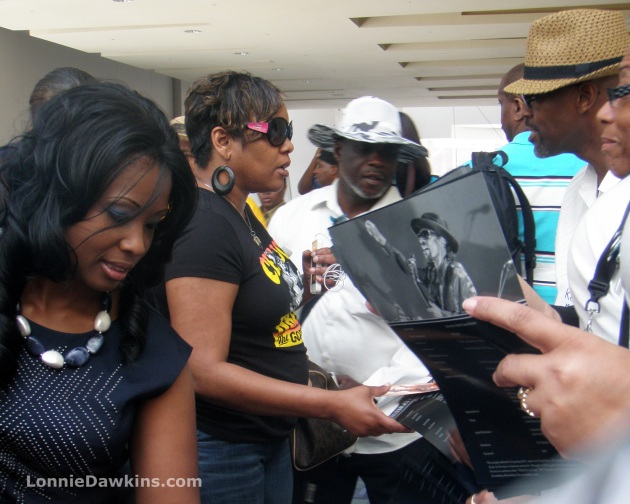 funeral program and fans after Chuck Brown Funeral