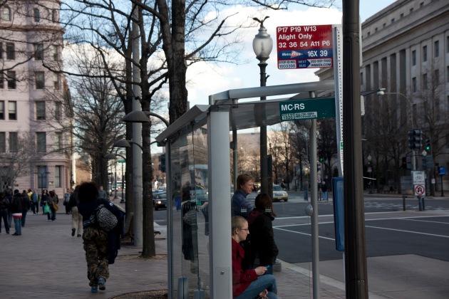 Pennsylanvania Avenue Bus stop WDC
