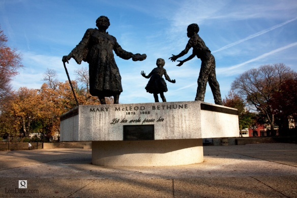 Let her works praise her - Mary McLeod Bethune Statue - Lincoln Park, Washington, DC