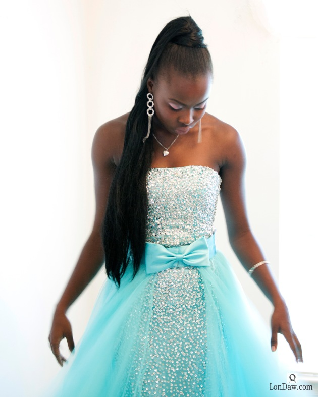 Portrait-African-American-woman-wearing-gown
