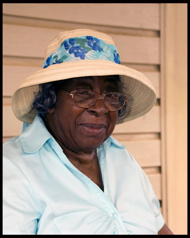 mature african american woman in hat