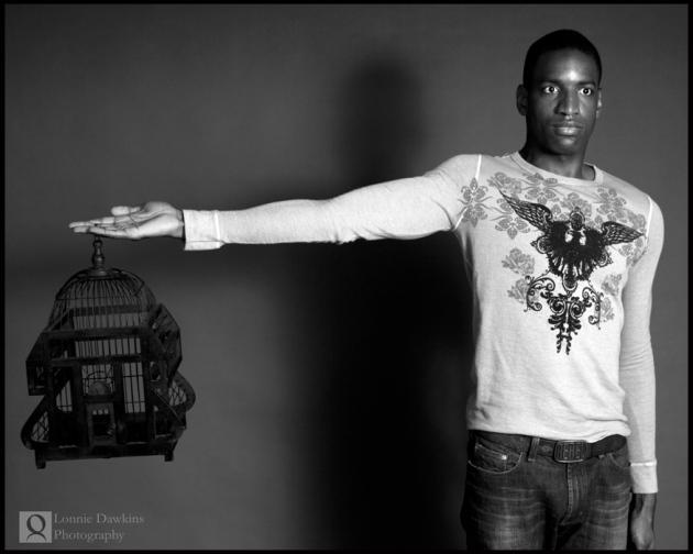 man-in-picture-frame handsome black male model