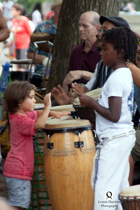 3a-Children drummers in Malcolm X Park DC