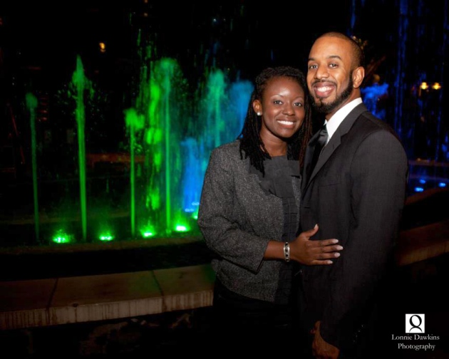 Engagement Portrait young African American successful
