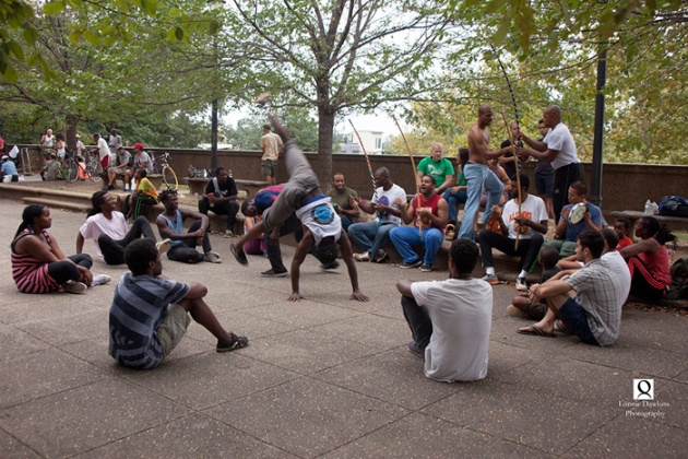 Male Fight-dance ceremony in Malcolm X park