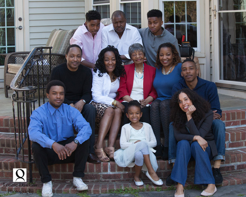 Maryland family portrait at matriarch's 90th birthday