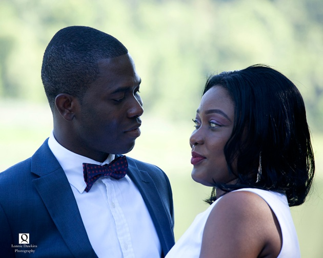 bridal couple posing after civil ceremony in Maryland