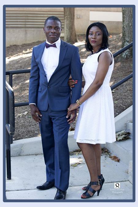 Bridal couple civil ceremony Upper Marlboro Maryland